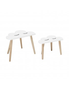 Lot de 2 tables nuages